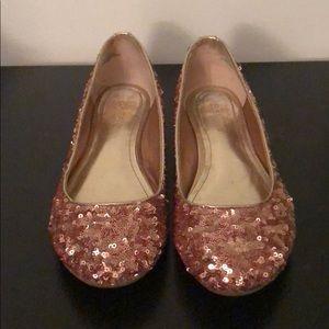 Rose Gold Sequin Flats 8.5